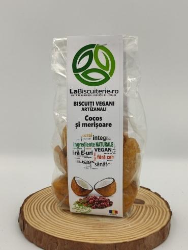 Biscuiti Vegani Artizanali cu Cocos si Merisoare, 140g