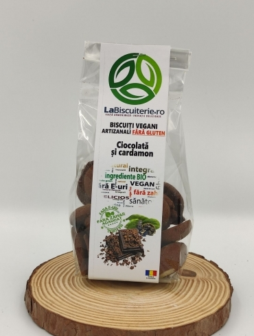 Biscuiti Vegani Artizanali Fara Gluten cu Ciocolata si Cardamo, 140g