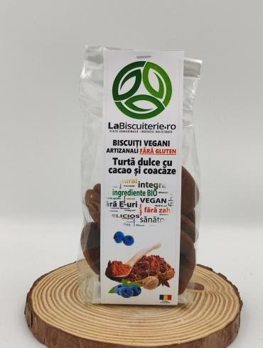 Biscuiti Vegani Artizanali Fara Gluten, Turta Dulce cu Cacao si Coacaze, 140g