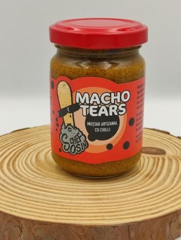 Macho Tears Mustar Artizanal cu Chili, 150g