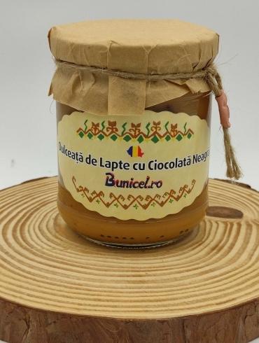 Dulceata de Lapte cu Ciocolata Neagra, 230g