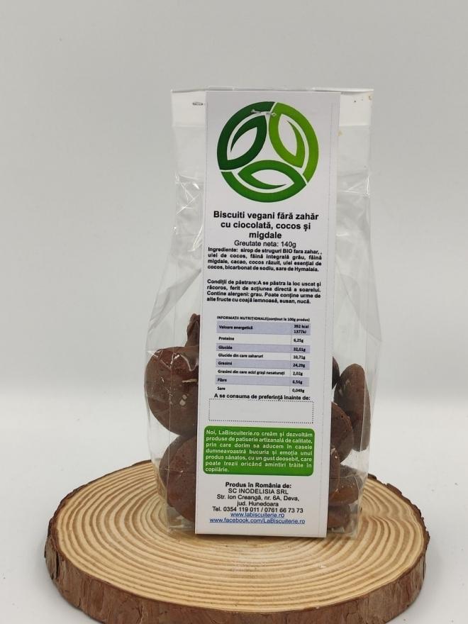 Biscuiti Vegani Artizanali cu Ciocolata, Cocos si Migdale, 140g